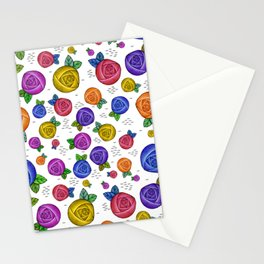 Retro Illustrated Roses Stationery Cards