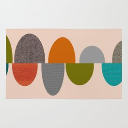Mid-Century Modern Ovals Abstract Rug