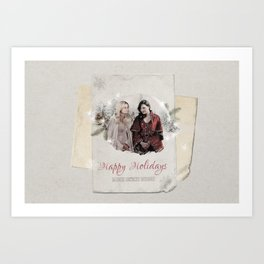 OUAT HAPPY HOLIDAYS // Swan Queen Art Print