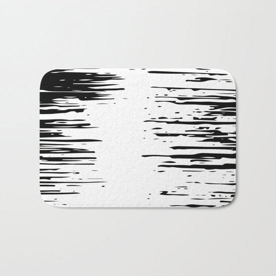 Splash Black and White Bath Mat