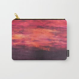 """""""Sunrise, Sunset"""" - Original Acrylic Painting by Elizabeth Anne Carry-All Pouch"""