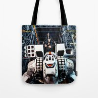 gundam Tote Bags featuring Robotech by Danielle Tanimura