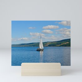 Sailboat on Lock Ness Mini Art Print