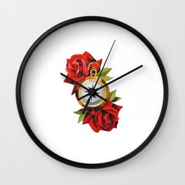 Traditional Rose & Compass Wall Clock