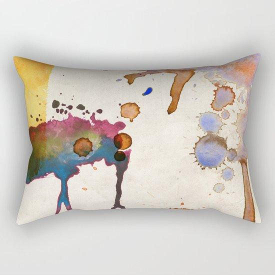 Multicolor Splash Rectangular Pillow