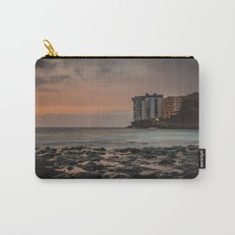 Sunset with long exposure on a beach of Tenerife. Carry-All Pouch