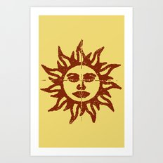 Orange Sunshine Art Print