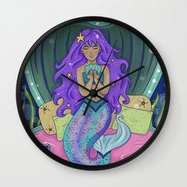 Mermaid Memories Wall Clock