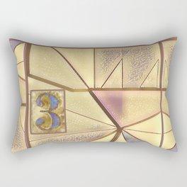 Kit In Abstract Rectangular Pillow