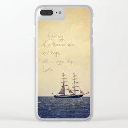 Sailing II Clear iPhone Case