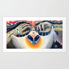 Moths love Flames Art Print