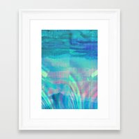 turquoise Framed Art Prints featuring turquoise by Hannah