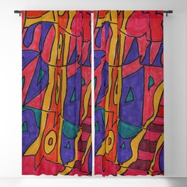 Colourful Picture Blackout Curtain