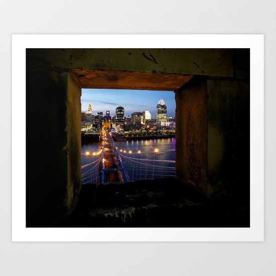 Framed Cincinnati Art Print