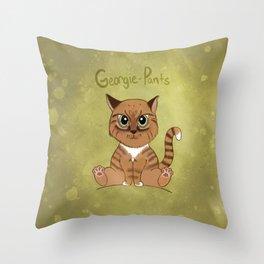 Georgie-Pants Throw Pillow