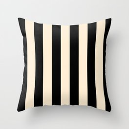 Elegant Stripes - Black & Beige Throw Pillow