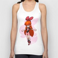 powerpuff girls Tank Tops featuring Blossom - The Powerpuff Girls by zeoarts