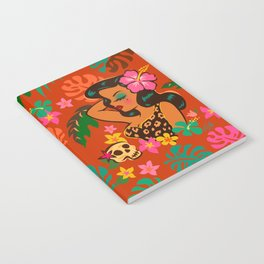 Tropical Tiki Girl Notebook
