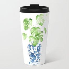 Ginger Jar + Monstera Travel Mug