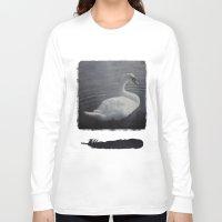 swan Long Sleeve T-shirts featuring Swan by AraNaja