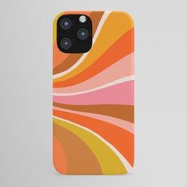 Sunshine Swirl – Retro Ochre iPhone Case