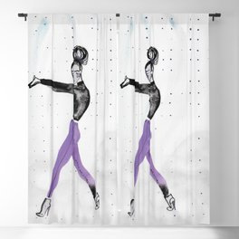 Model Pose in Purple Tights Blackout Curtain