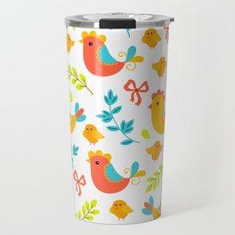 Easter Little Peeps Baby Chicks Pattern Travel Mug