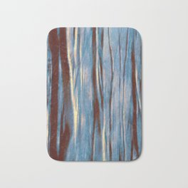 Dawn in the Winter Forest #impressionism #abstract #moods #society6 Bath Mat