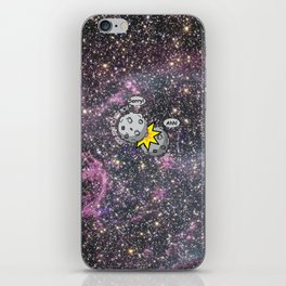 I never meant to hurt you - meteor collision in space cartoon iPhone Skin