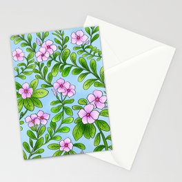 Chocolata floral pattern Stationery Cards