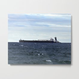 Ships on Huron Metal Print