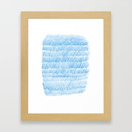 Blue Weaving Framed Art Print