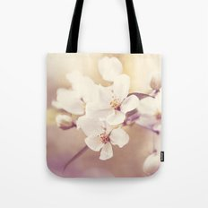 Pastel Apple Bloom Tote Bag