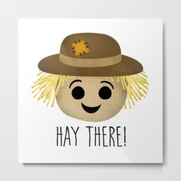 Hay There! Metal Print