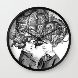 Conjoined twins Wall Clock