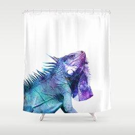 Galactic Iguana Shower Curtain