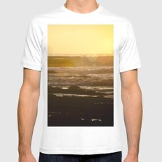 End of Day White Mens Fitted Tee MEDIUM