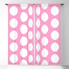 White circles on pink Blackout Curtain