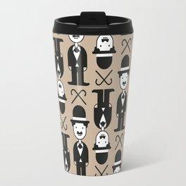Charlie Chaplin Pattern Travel Mug