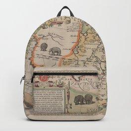 Vintage Map Print - Abraham Ortelius - Map of Eastern Africa (1580) Backpack