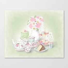 Tea Party Dessert Setting Canvas Print