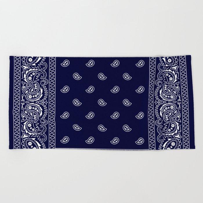 Bandana - Navy Blue - Southwestern Beach Towel