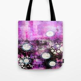 Magenta Abstract Tote Bag