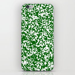 Small Spots - White and Dark Green iPhone Skin