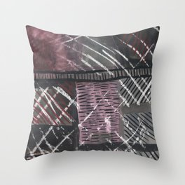 Grid lines Throw Pillow