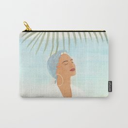 Under a Beach Palm Carry-All Pouch