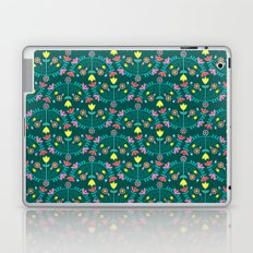 Folk Flowers Green Laptop & iPad Skin
