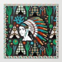 southwest Canvas Prints featuring Southwest by Vannina