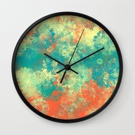 Floral print papi Wall Clock