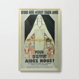 Vintage poster - Musee des Instruments de Medecine Metal Print